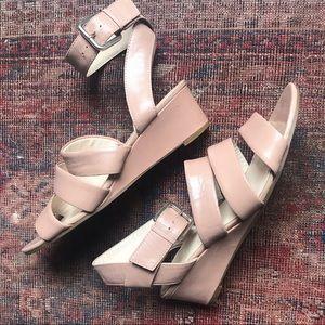 NINE WEST Nude Wedge Sandals